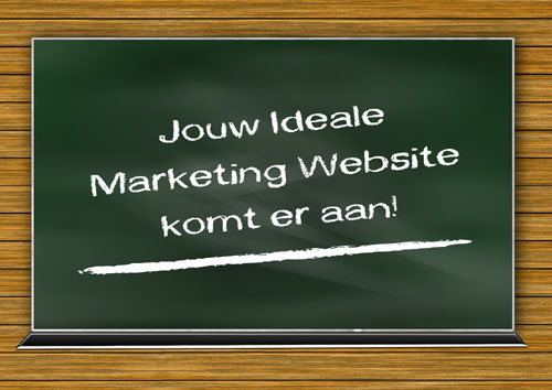 Jouw ideale marketing website komt er aan!
