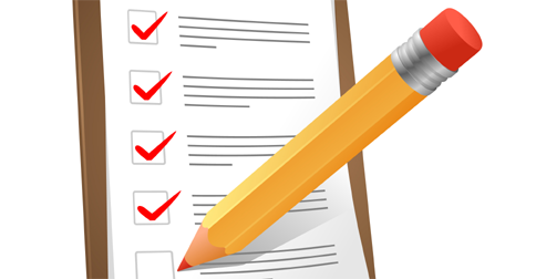 Klembord Website Marketing Scan Checklist Potlood